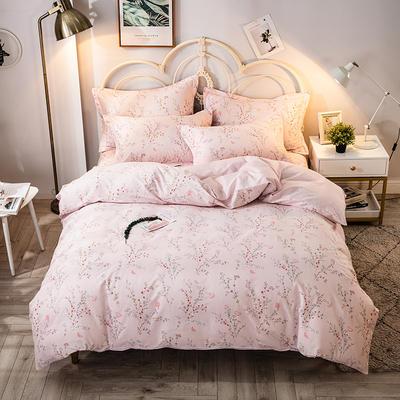 2021年新款-全棉13372印花四件套 床单款四件套1.5m(5英尺)床 安娜-粉
