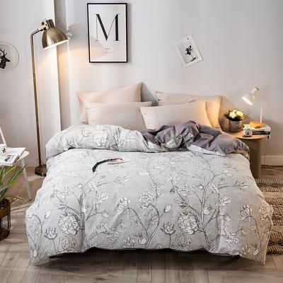 2020年新款-全棉13372印花四件套 床单款三件套1.2m(4英尺)床 都市情调