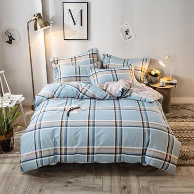2021年新款-全棉13372印花四件套 床单款四件套1.5m(5英尺)床 格调