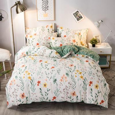 2020年新款-全棉13372印花四件套 床单款四件套1.5m(5英尺)床 幸运草