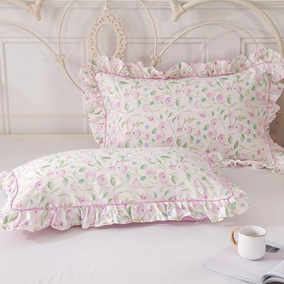 2021新款-韩版13372全棉印花单枕套 48x74CM枕套对 楚楚动人枕套