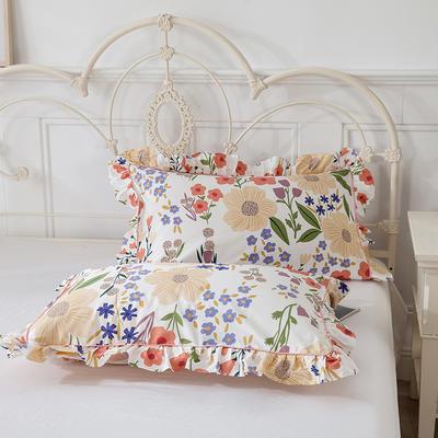 2021新款-韩版13372全棉印花单枕套 48x74CM枕套对 国色天香枕套
