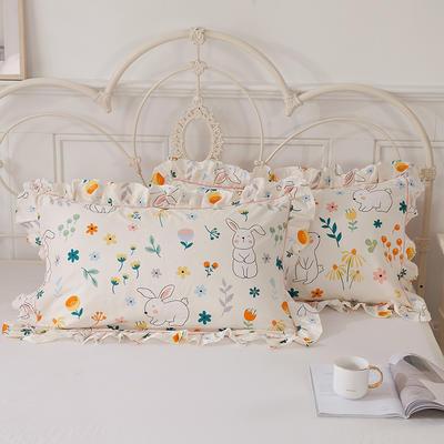 2021新款-韩版13372全棉印花单枕套 48x74CM枕套对 活泼可爱枕套
