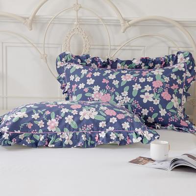 2021新款-韩版13372全棉印花单枕套 48x74CM枕套对 如花似玉枕套