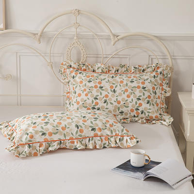2021新款-韩版13372全棉印花单枕套 48x74CM枕套对 盛夏果实枕套