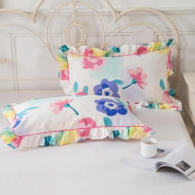 2021新款-韩版13372全棉印花单枕套 48x74CM枕套对 天生丽质枕套