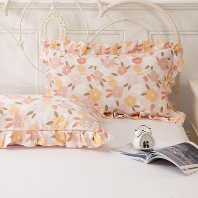 2021新款-韩版13372全棉印花单枕套 48x74CM枕套对 优雅迷人枕套