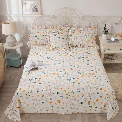 2021新款-韩版13372全棉印花单床单 250cmx245cm 活泼可爱床单
