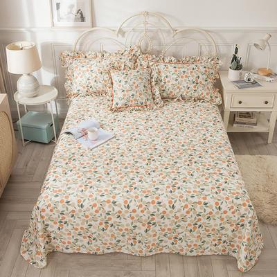 2021新款-韩版13372全棉印花单床单 250cmx245cm 盛夏果实床单