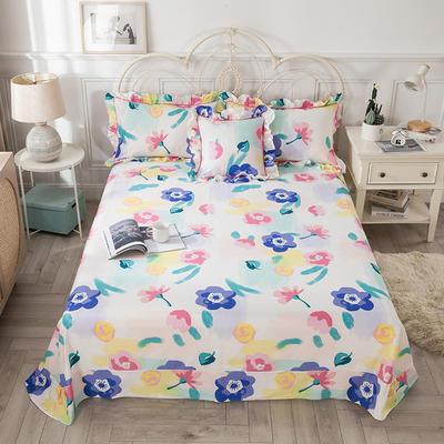 2021新款-韩版13372全棉印花单床单 250cmx245cm 天生丽质床单