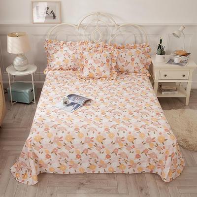 2021新款-韩版13372全棉印花单床单 250cmx245cm 优雅迷人床单