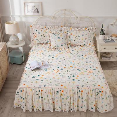 2021新款-韩版13372全棉印花单床裙 150x200+45 活泼可爱单床裙