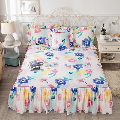 2021新款-韩版13372全棉印花单床裙 150x200+45 天生丽质单床裙