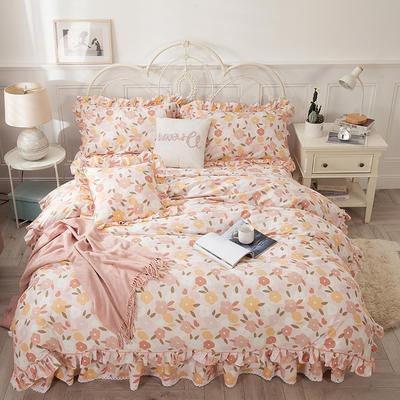 2021新款-韩版13372全棉印花四件套 1.8m被套加大床单款四件套 优雅迷人四件套