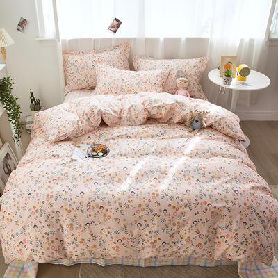 2021新款-小清新印花四件套 1.35m床单款三件套 可爱女孩
