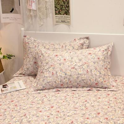 2021新款-13372全棉印花单枕套 48x74cm一对 花之恋