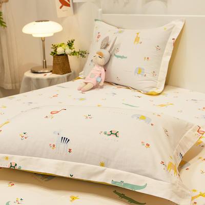 2021新款-13372全棉印花单枕套 48x74cm一对 小宝贝