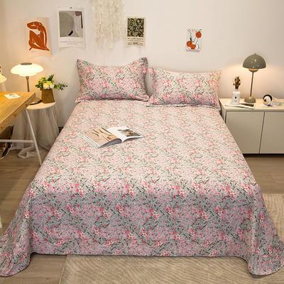 2021新款-13372全棉印花单床单 180x230cm 爱丽丝