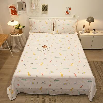 2021新款-13372全棉印花单床单 180x230cm 小宝贝