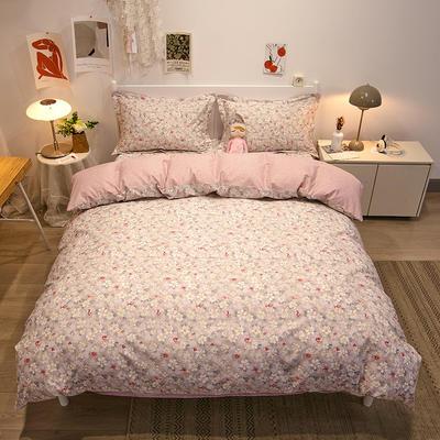 2021新款-13372全棉印花四件套 1.8m被套加大床单款四件套 花之恋