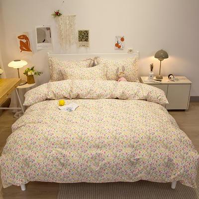 2021新款-13372全棉印花四件套 1.8m被套加大床单款四件套 浪漫满屋
