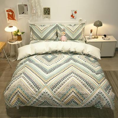2021新款-13372全棉印花四件套 1.8m被套加大床单款四件套 卢浮宫