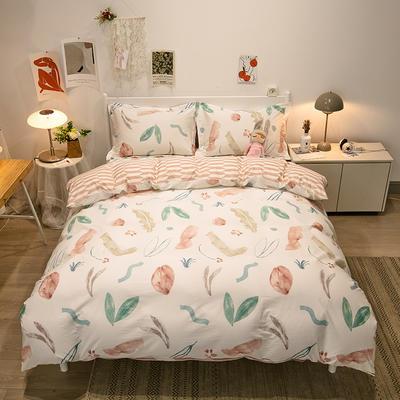 2021新款-13372全棉印花四件套 1.8m被套加大床单款四件套 优雅花香