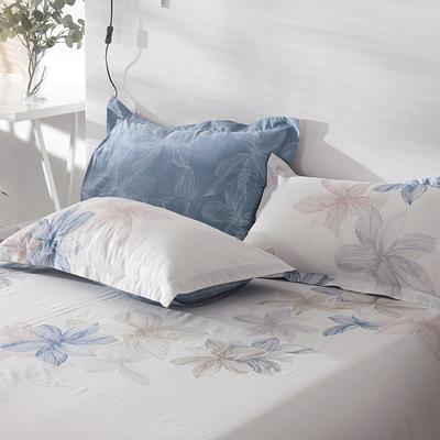 2021年新款-13372印花单枕套 48cmX74cm/对 富贵花枕套