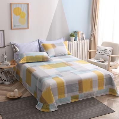 2021年新款-13372印花单床单 180cmx230cm 英伦风尚-兰床单
