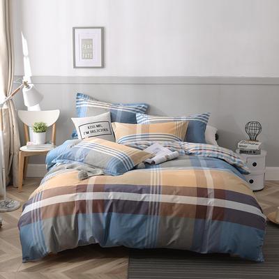 2021年新款-全棉13372印花四件套 床单款1.8被套加大四件套 布鲁赛尔四件套