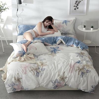 2021年新款-全棉13372印花四件套 床单款1.8被套加大四件套 富贵花四件套