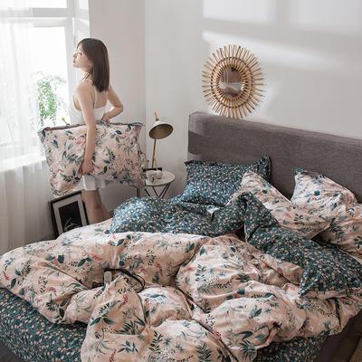 2021年新款-全棉13372印花四件套 床单款1.8被套加大四件套 花之语