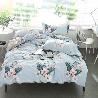 2021年新款-全棉13372印花四件套 床单款1.8被套加大四件套 梦心语四件套