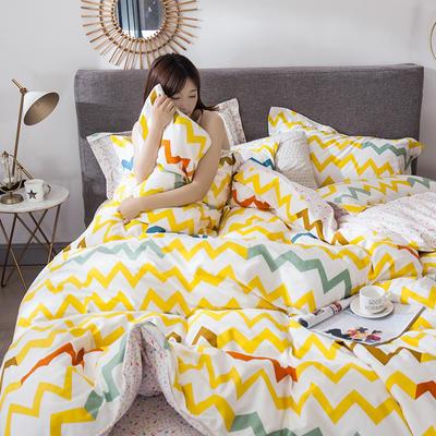 2021年新款-全棉13372印花四件套 床单款1.8被套加大四件套 五彩缤纷