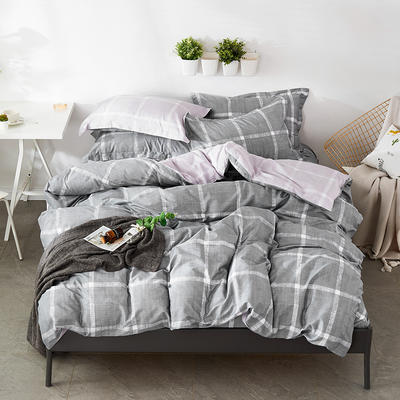 2021年新款-全棉13372印花四件套 床单款1.8被套加大四件套 运动风情四件套