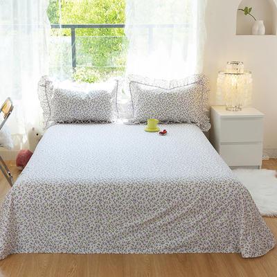 2021新款-韩版13372全棉印花单床单 250cmx245cm 美好时光床单