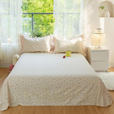 2021新款-韩版13372全棉印花单床单 250cmx245cm 萌趣床单