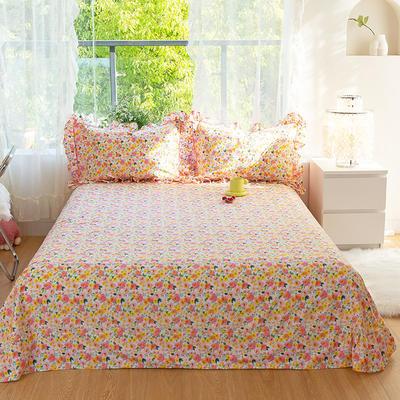 2021新款-韩版13372全棉印花单床单 250cmx245cm 甜心宝贝床单