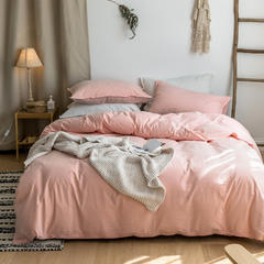 2019全棉水洗棉单品被套 150x200cm 樱花粉
