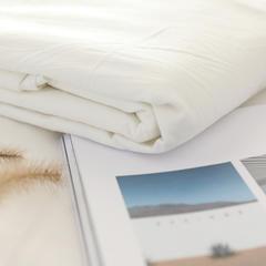 2019全棉色织水洗棉床单单件 160cmx230cm 白