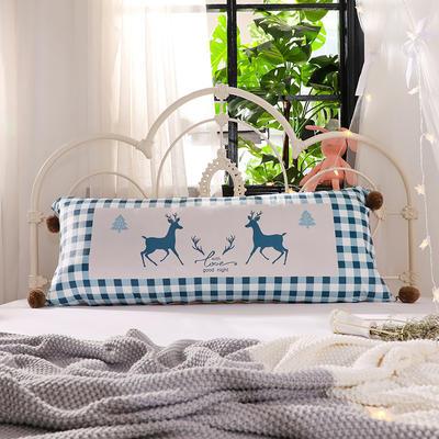 2018新款北欧简约风床头长靠背沙发榻榻米软包大靠垫双人可拆洗加长靠枕 50X90cm 爱的约定