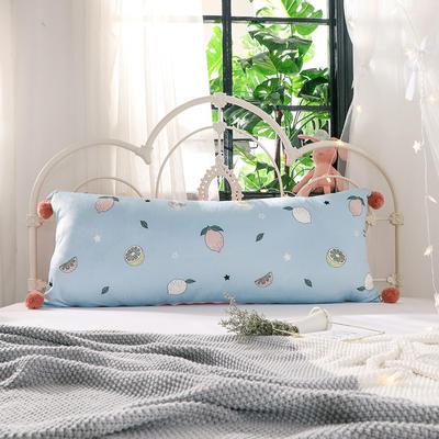 2018新款北欧简约风床头长靠背沙发榻榻米软包大靠垫双人可拆洗加长靠枕 50X90cm 缤纷果园