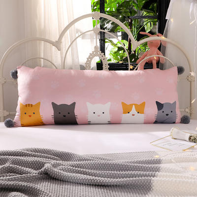 2018新款北欧简约风床头长靠背沙发榻榻米软包大靠垫双人可拆洗加长靠枕 50X90cm 躲猫猫