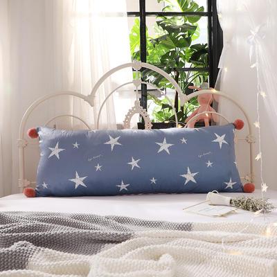 2018新款北欧简约风床头长靠背沙发榻榻米软包大靠垫双人可拆洗加长靠枕 50X90cm 繁星点点