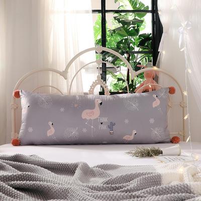 2018新款北欧简约风床头长靠背沙发榻榻米软包大靠垫双人可拆洗加长靠枕 50X90cm 欢乐园