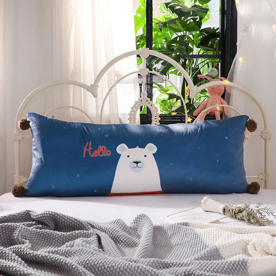 2018新款北欧简约风床头长靠背沙发榻榻米软包大靠垫双人可拆洗加长靠枕 50X90cm 我是熊大
