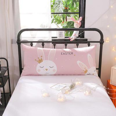 2018新款北欧卡通儿童靠枕单人床头靠垫抱枕可拆洗 50x110cm 皇冠兔