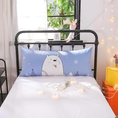 2018新款北欧卡通儿童靠枕单人床头靠垫抱枕可拆洗 50x110cm 萌萌熊