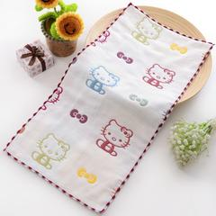 2018新款-纱布童巾(25*50cm) KT猫