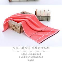 2018新款-三道杠毛巾 粉色